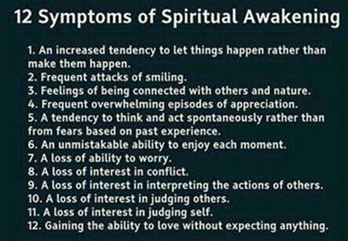 12 symtoms of spirtual awakening